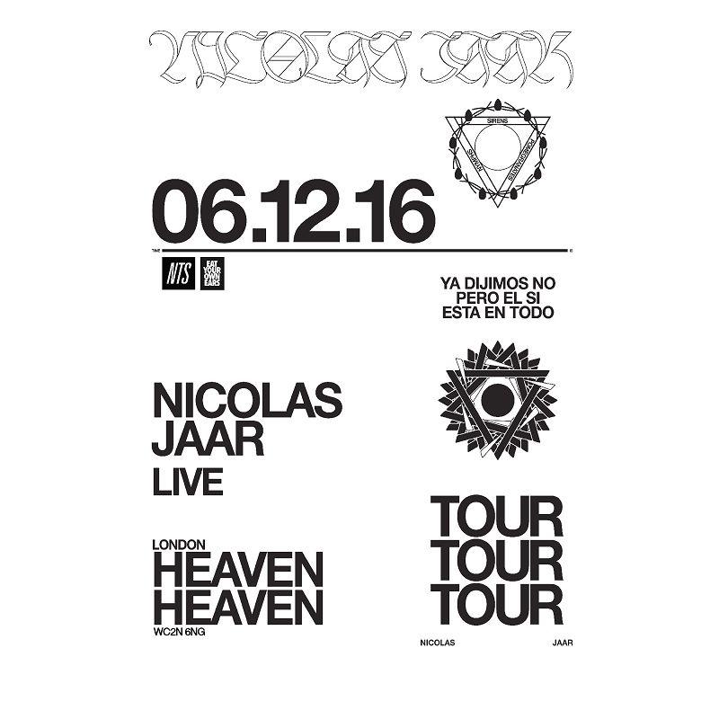Nicolas Jaar live at Heaven events Image