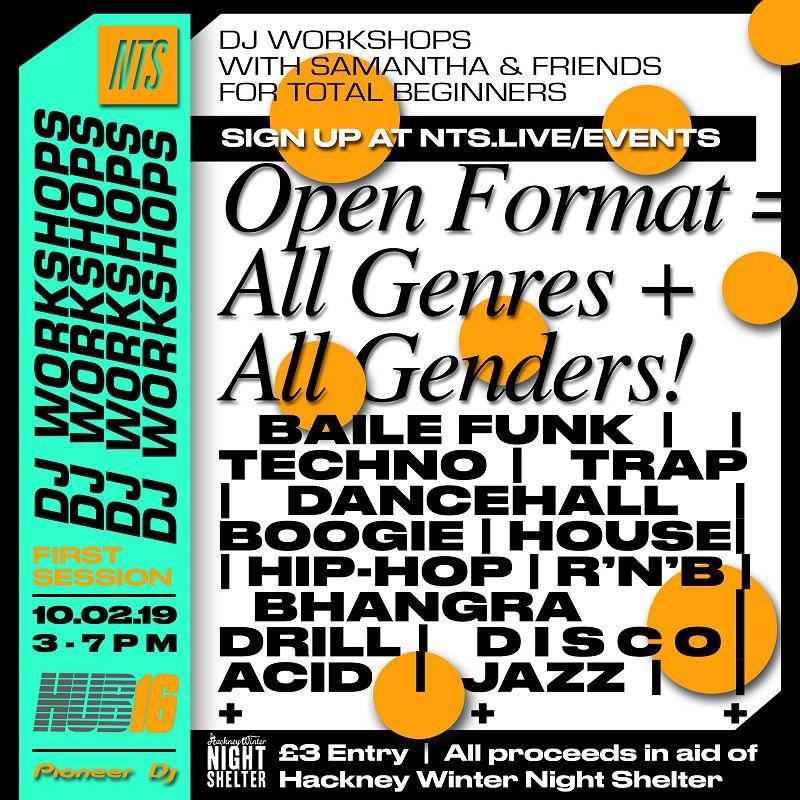 NTS x HUB16 DJ Workshop events Image