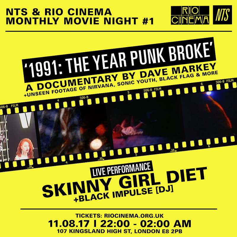 NTS & Rio Cinema - 1991: The Year That Punk Broke events Image