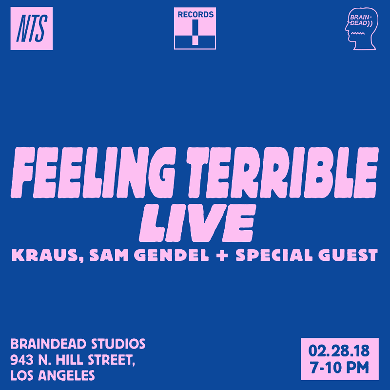 Feeling Terrible Live: Kraus, Sam Gendel & Special Guest events Image