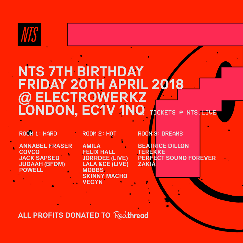 NTS 7th Birthday events Image