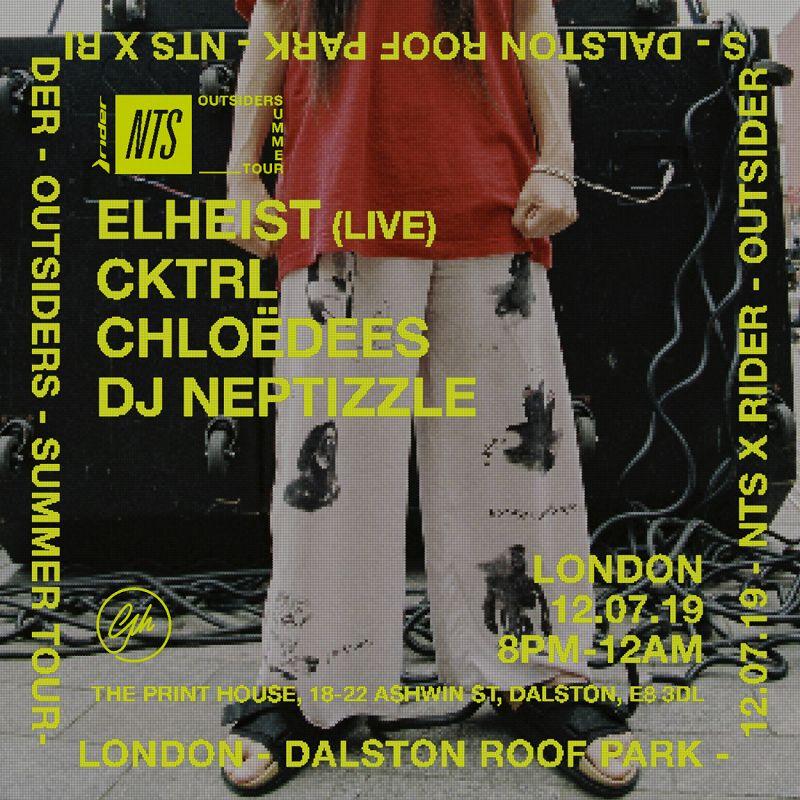 Outsiders London: Elheist, Cktrl, Chloedees, Neptizzle events Image