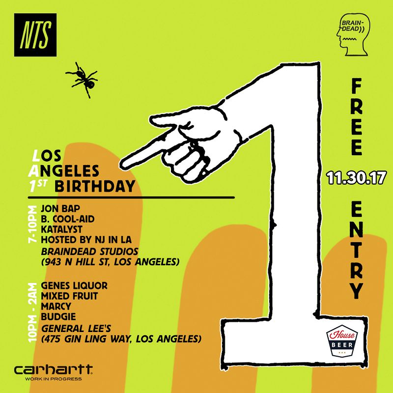 NTS LA 1st Birthday events Image