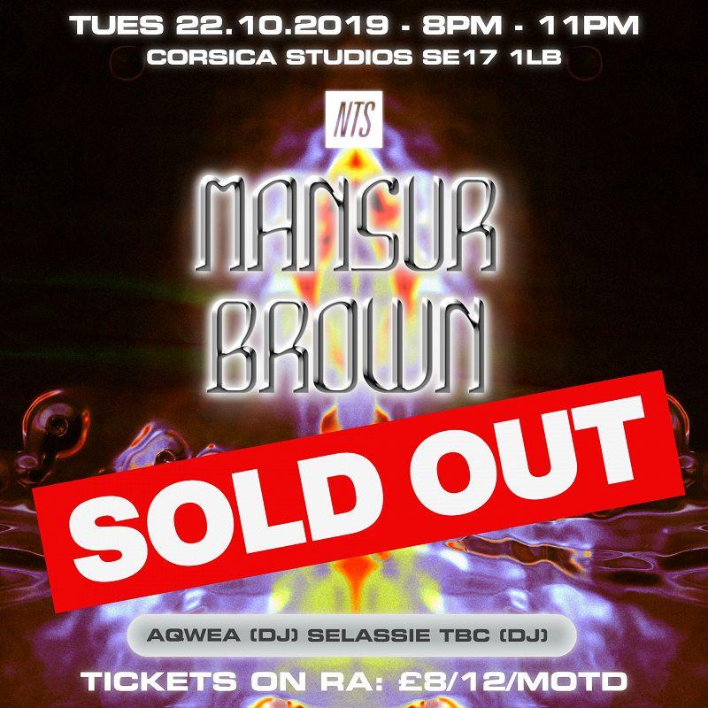 NTS Presents: Mansur Brown events Image