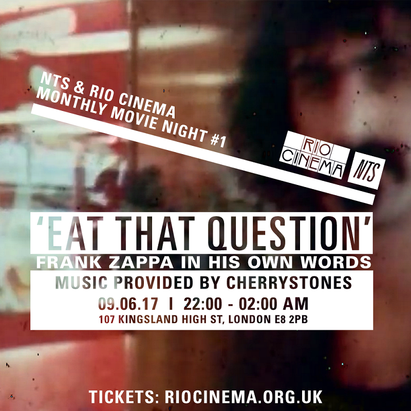 NTS & Rio Cinema: Eat That Question events Image