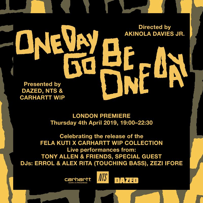 One Day Go Be One Day: London Premiere events Image