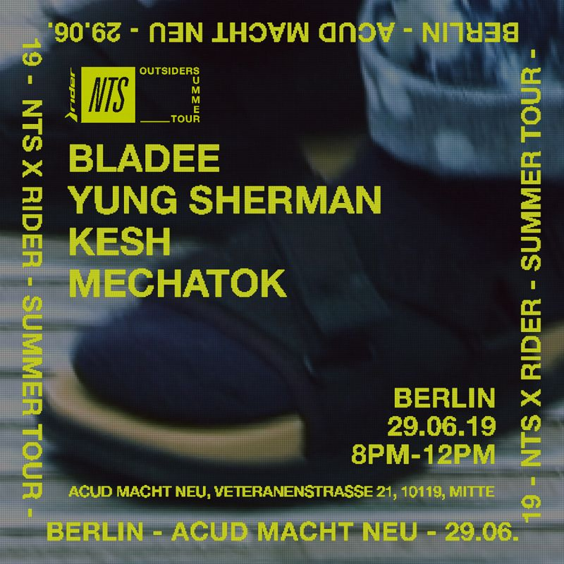 Outsiders Berlin: Bladee, Yung Sherman, Kesh & Mechatok events Image
