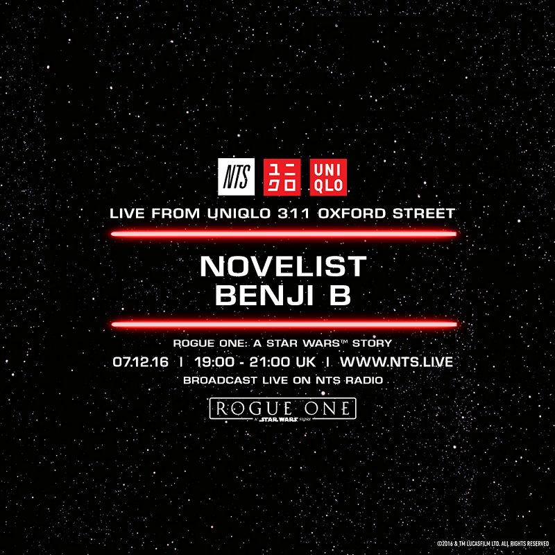 Novelist and Benji B live from 311 Oxford Street events Image